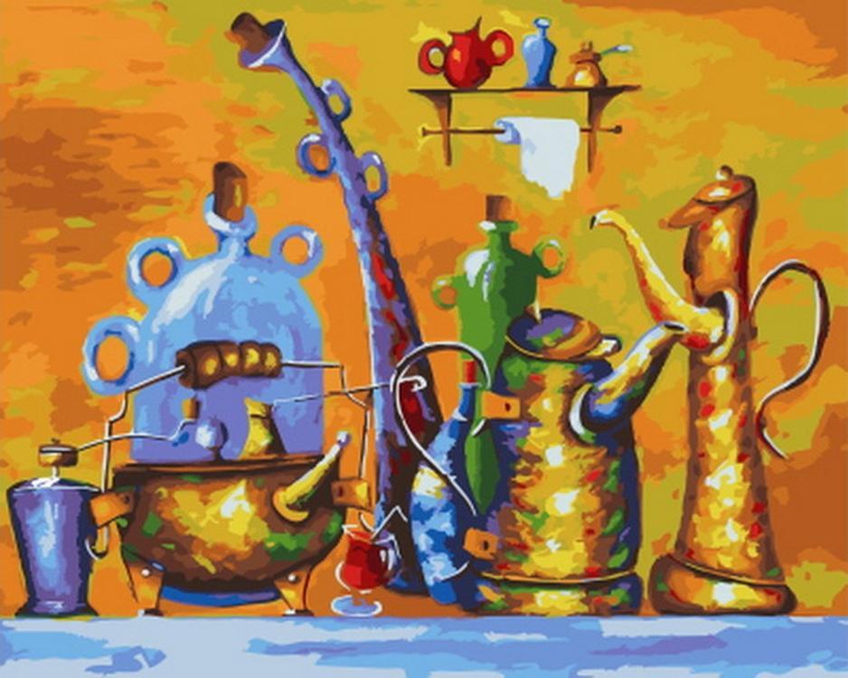 Картина по номерам «Кофе-брейк» Николая ПахомоваРаскраски по номерам Paintboy (Original)<br><br><br>Артикул: GX21345_R<br>Основа: Холст<br>Сложность: средние<br>Размер см: 40x50<br>Количество цветов: 25<br>Техника рисования: Без смешивания красок