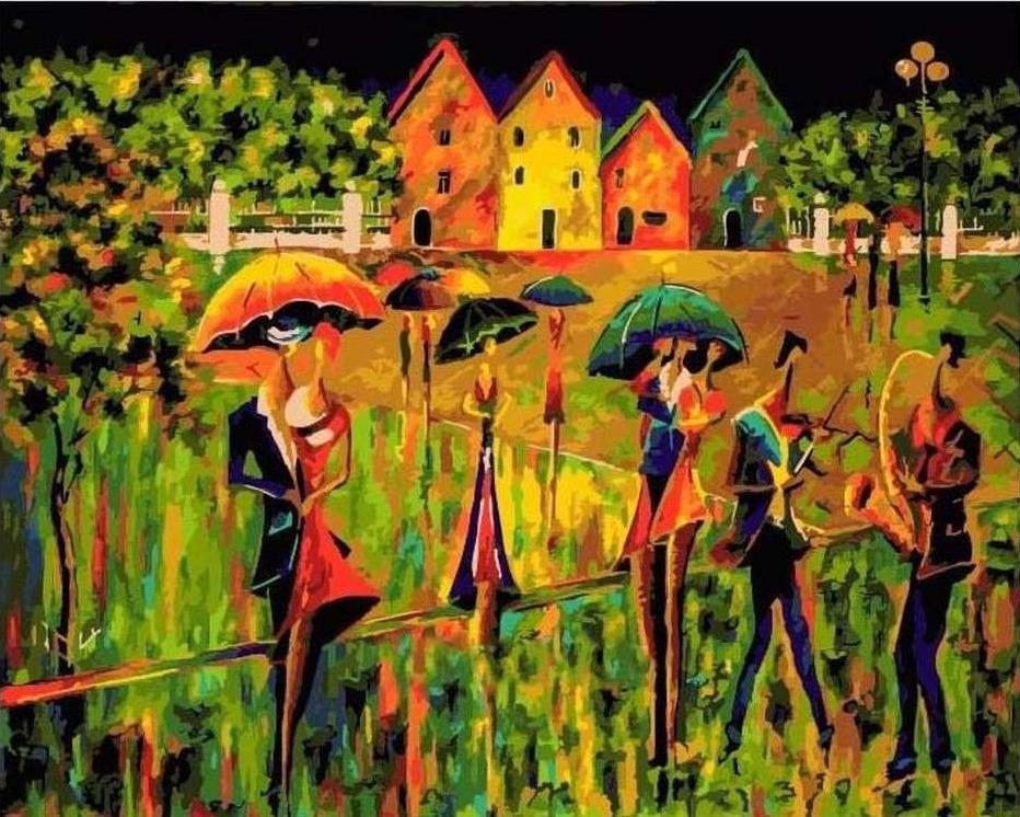 Картина по номерам «Радужный джаз» Николая ПахомоваРаскраски по номерам Paintboy (Original)<br><br>