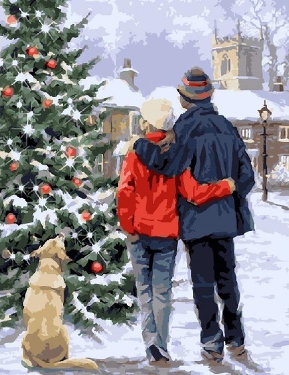Картина по номерам «Новогодние желания» Ричарда МакнейлаPaintboy (Premium)<br><br><br>Артикул: GX21416<br>Основа: Холст<br>Сложность: средние<br>Размер: 40x50 см<br>Количество цветов: 25<br>Техника рисования: Без смешивания красок