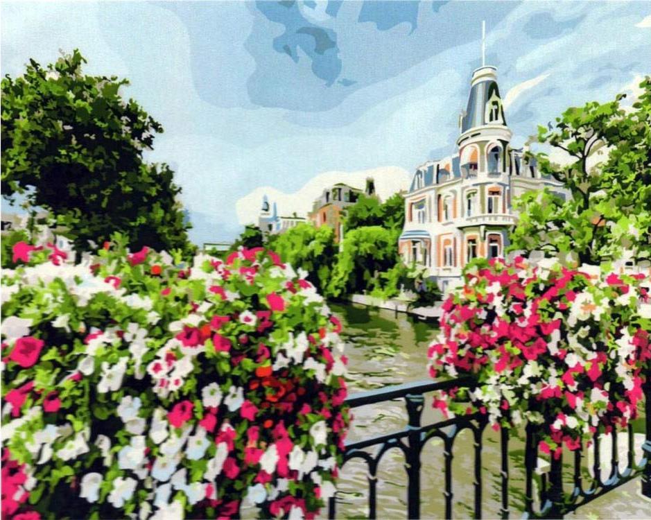 Картина по номерам «Амстердам»Paintboy (Premium)<br><br><br>Артикул: GX21698<br>Основа: Холст<br>Сложность: сложные<br>Размер: 40x50 см<br>Количество цветов: 28<br>Техника рисования: Без смешивания красок