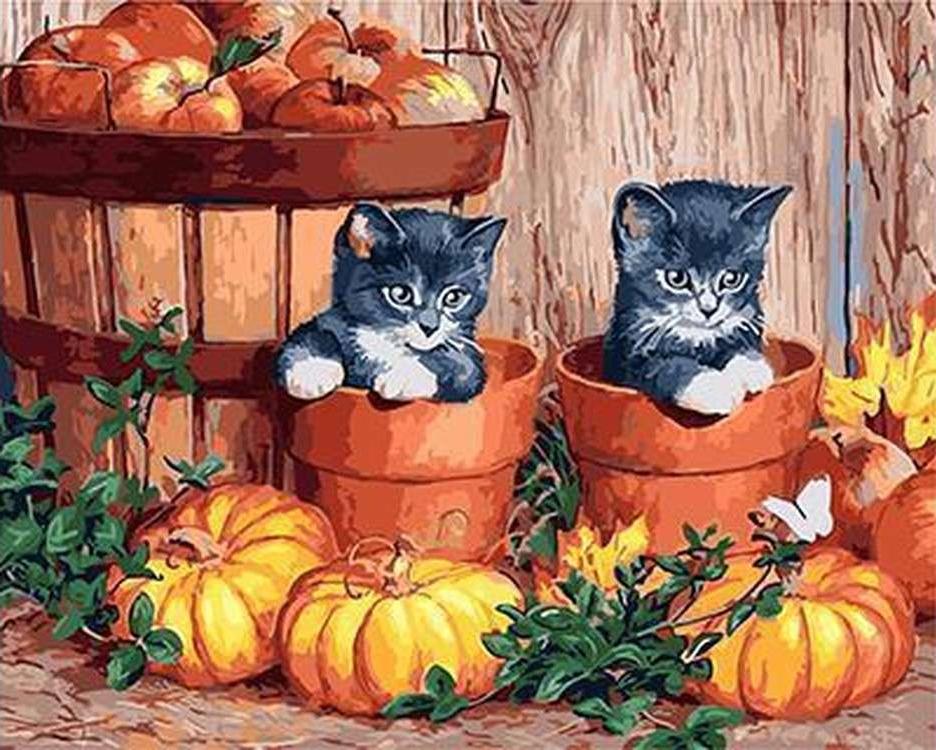 Картина по номерам «Котята в горшках» Персис Клейтон ВейерсPaintboy (Premium)<br><br>