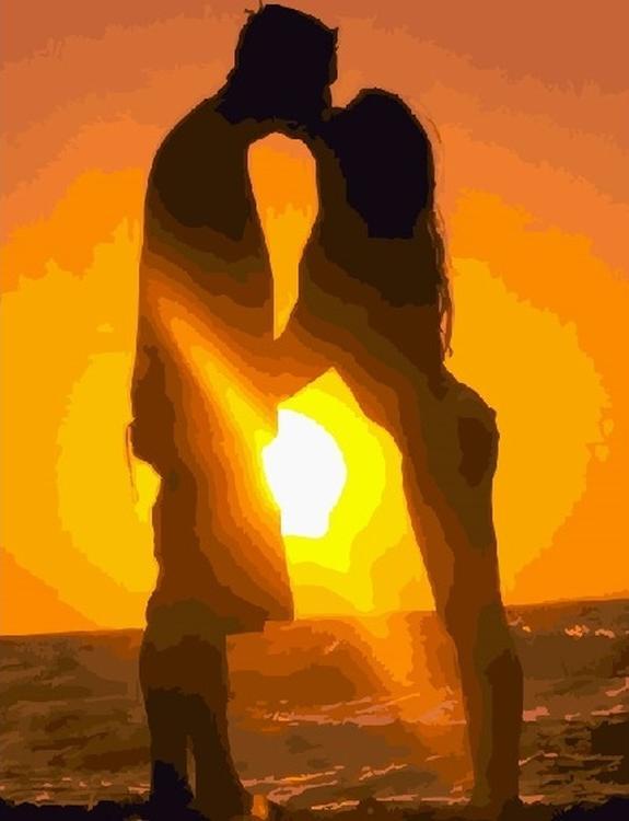 Картина по номерам «Влюбленные на закате»Раскраски по номерам Paintboy (Original)<br><br><br>Артикул: GX4834_R<br>Основа: Холст<br>Сложность: средние<br>Размер см: 40x50<br>Количество цветов: 21<br>Техника рисования: Без смешивания красок
