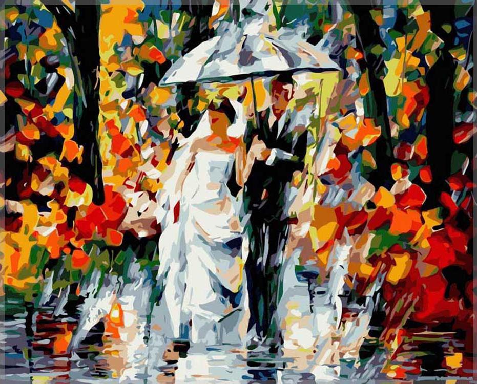 Купить Картина по номерам «Молодожены» Леонида Афремова, Paintboy (Premium), Китай