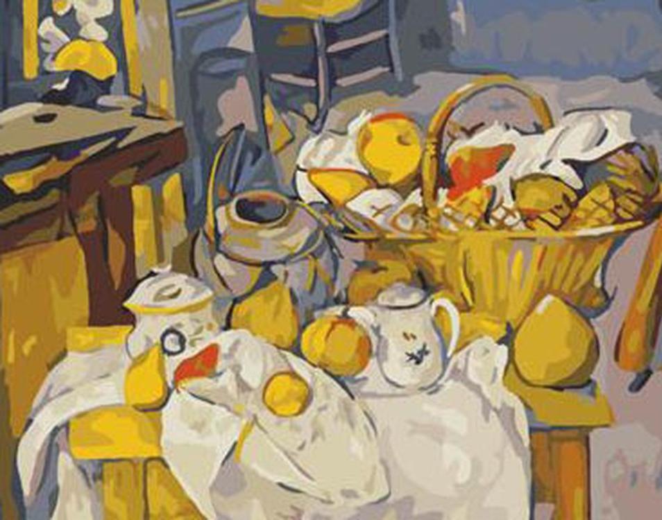 Картина по номерам «Сельская трапеза» Поля Сезанна