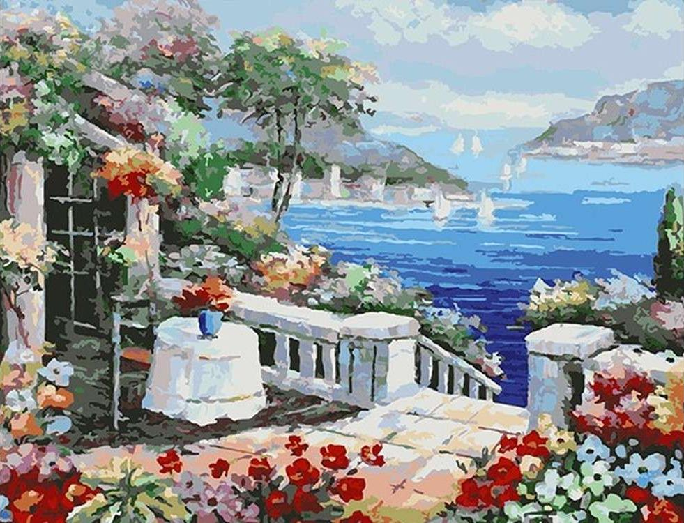 Картина по номерам «Веранда у моря»Paintboy (Premium)<br><br>