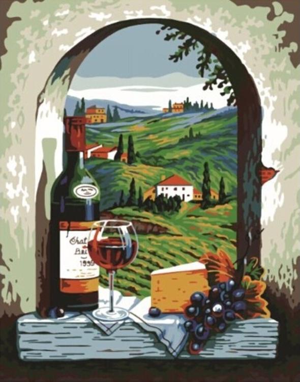 Купить Картина по номерам «Вид на Тоскану», Paintboy (Original)