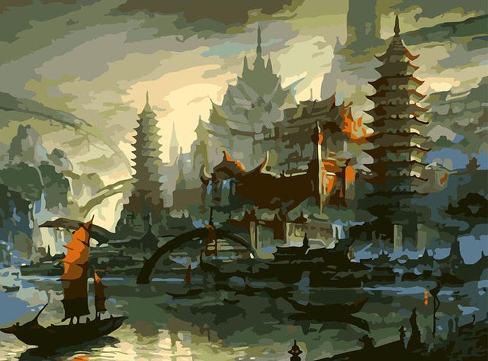 Картина по номерам «Провинция Китая» Мин ФанаMolly<br><br><br>Артикул: GX6940_M<br>Основа: Холст<br>Сложность: очень сложные<br>Размер: 40x50 см<br>Количество цветов: 24<br>Техника рисования: Без смешивания красок