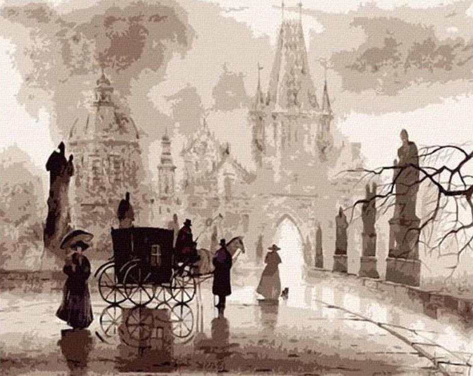 Картина по номерам «Туманное утро» Сабира и Светланы ГаджиевыхMolly<br><br>