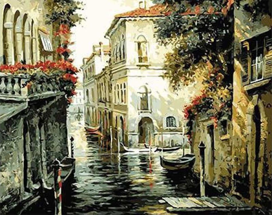 Картина по номерам «Тени Венеции» Рубена БореPaintboy (Premium)<br><br><br>Артикул: GX9224<br>Основа: Холст<br>Сложность: сложные<br>Размер: 40x50 см<br>Количество цветов: 24-30<br>Техника рисования: Без смешивания красок
