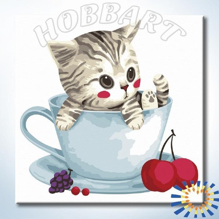 Картина по номерам «Чаепитие с другом»
