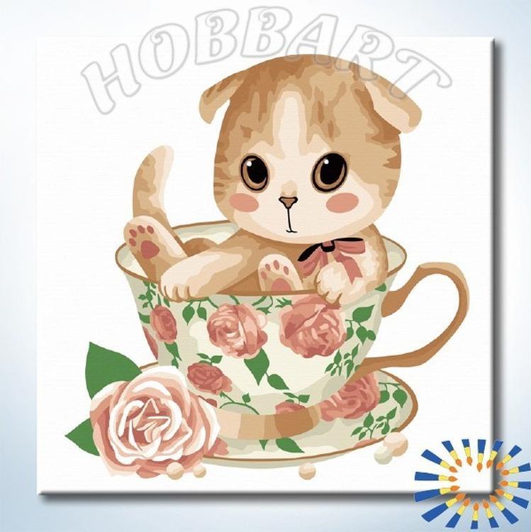 Картина по номерам «Подарок к чаепитию»