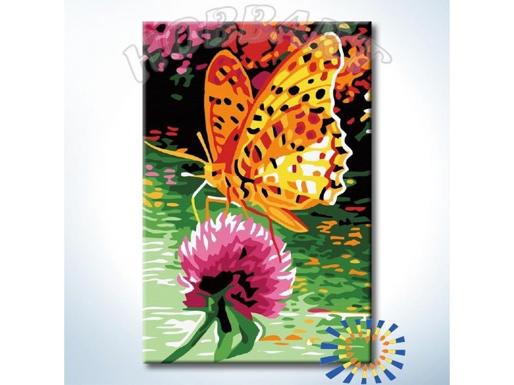 Картина по номерам «В поисках нектара»Hobbart<br><br><br>Артикул: HB2030092-Lite<br>Основа: Цветной холст<br>Сложность: средние<br>Размер: 20x30 см<br>Количество цветов: 13<br>Техника рисования: Без смешивания красок