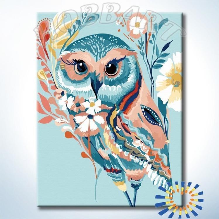 Картина по номерам «Сказочная сова» Старлы МишельРаскраски по номерам<br><br>