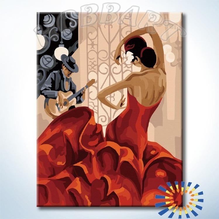 Картина по номерам «Фламенко» Триш Биддл