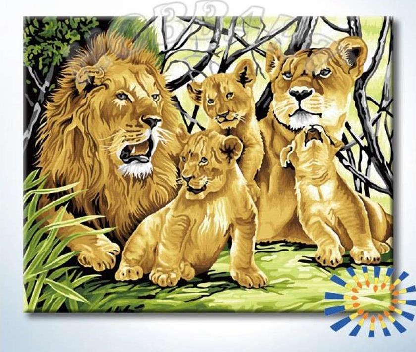 Картина по номерам «Дикое семейство»
