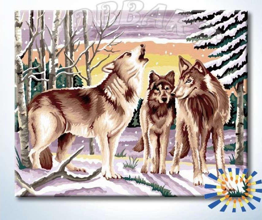 Картина по номерам «Совет волков»