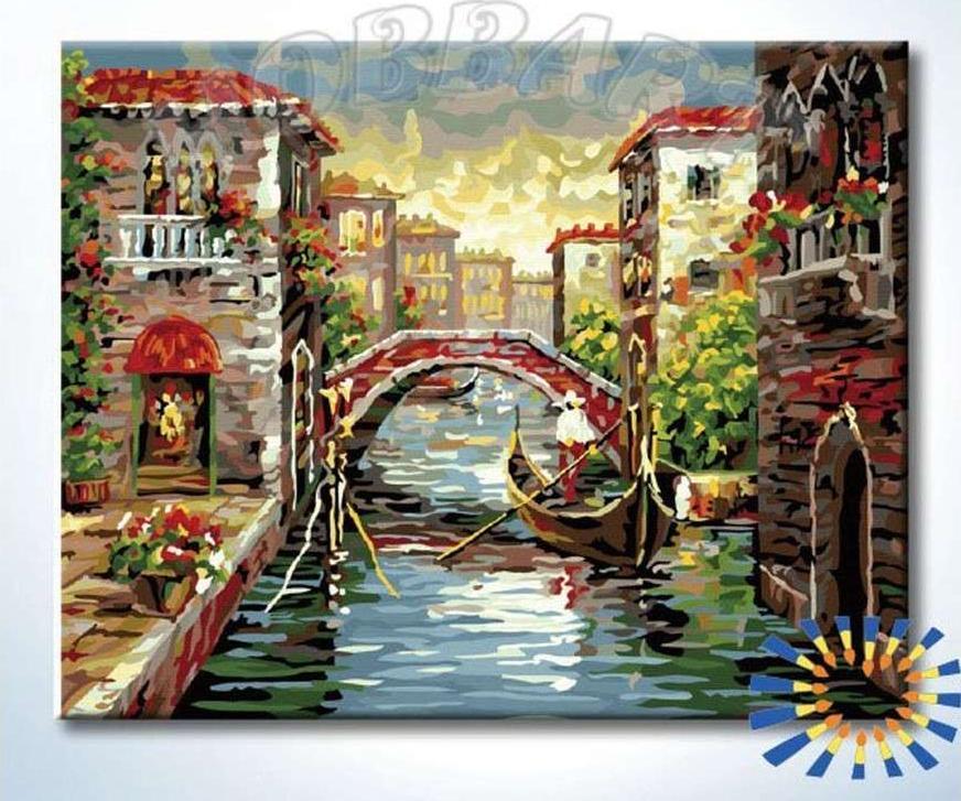 Картина по номерам «Венецианское утро»Hobbart<br><br><br>Артикул: HB4050352-Lite<br>Основа: Цветной холст<br>Сложность: сложные<br>Размер: 40x50 см<br>Количество цветов: 34<br>Техника рисования: Без смешивания красок