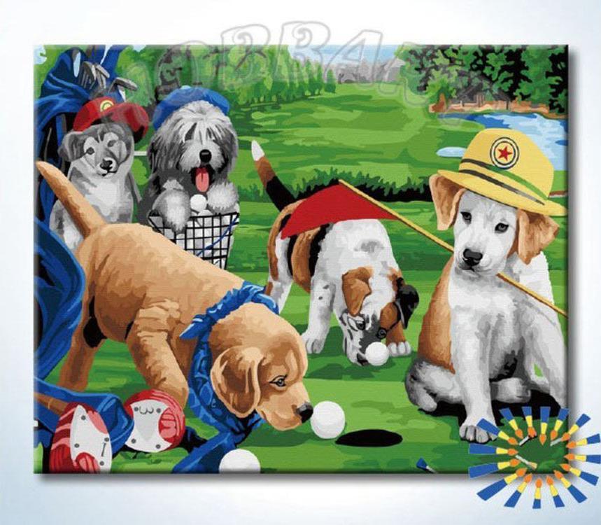 Картина по номерам «Звериный гольф»