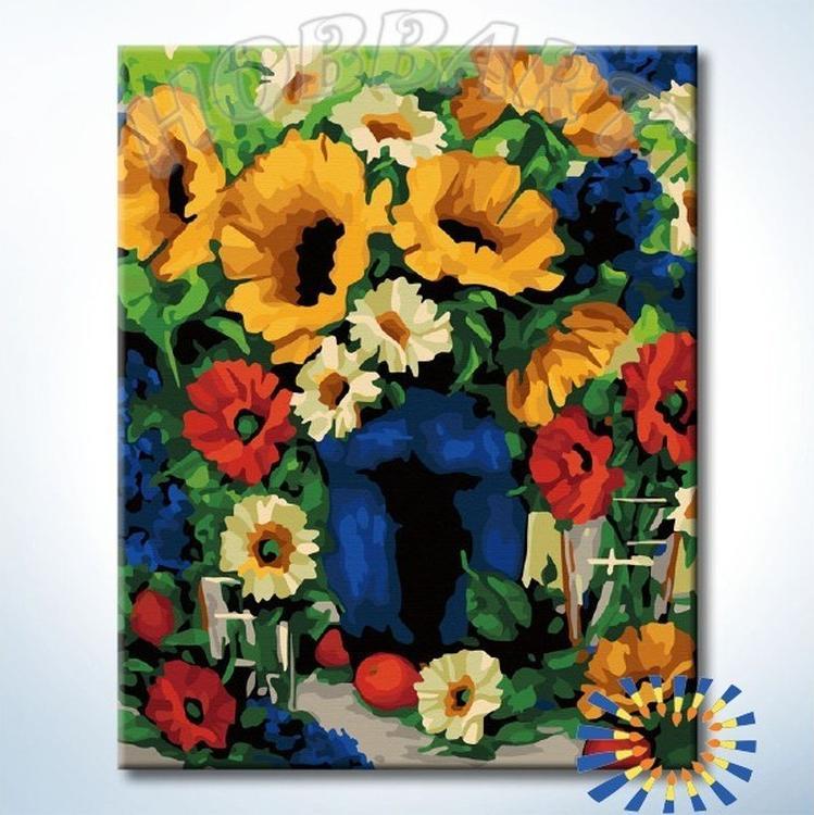 Картина по номерам «Деревенский букет»Раскраски по номерам<br><br>