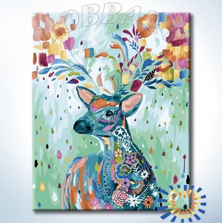 Картина по номерам «Сказочный гость» Старлы МишельHobbart<br><br><br>Артикул: HB4050362-Lite<br>Основа: Цветной холст<br>Сложность: средние<br>Размер: 40x50 см<br>Количество цветов: 33<br>Техника рисования: Без смешивания красок