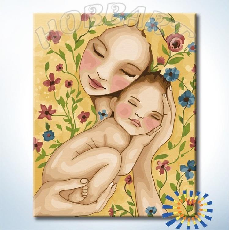 Картина по номерам «Счастье матери»