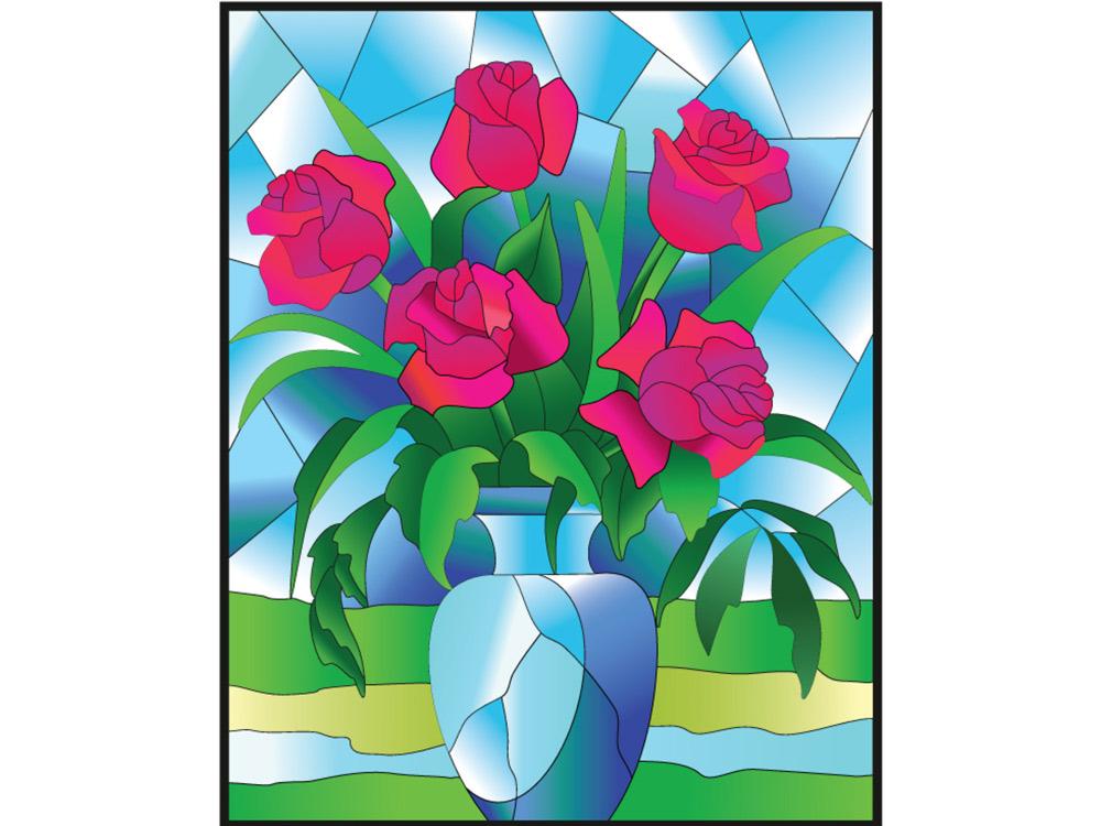 Витраж-раскраска «Розы»Color KIT<br>Витраж-раскраска – новый вид раскрасок для взрослых. В комплектации набора предусмотрено все, что может понадобиться при создании уникального произведения искусства.<br> Основа этой раскраски – стекло, обрамленное в багетную раму. Расписывать витраж достато...<br><br>Артикул: HG012<br>Основа: стекло в багетной раме<br>Размер: 43x53 см<br>Количество цветов: 6-8