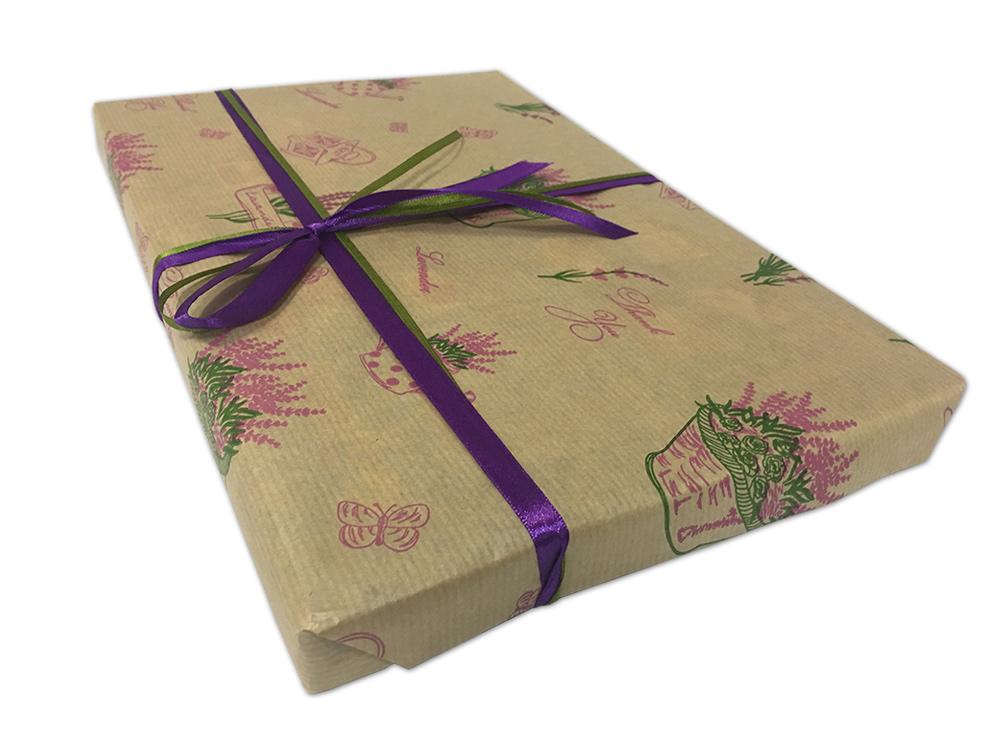 Подарочная упаковка «Лаванда»Упаковка подарков<br>Как упаковать подарок?<br>Мы можем упаковать отдельный товар или весь заказ с несколькими товарами. Для этого:<br><br>Добавьте в корзину товары, которые хотите приобрести;<br>Добавьте в корзину нужное количество подарочных упаковок;<br>Оформите заказ;<br>При подтверж...<br><br>Артикул: P04