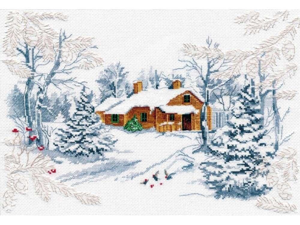 Купить Вышивка крестом, Набор для вышивания «Сказка зимнего леса», Овен
