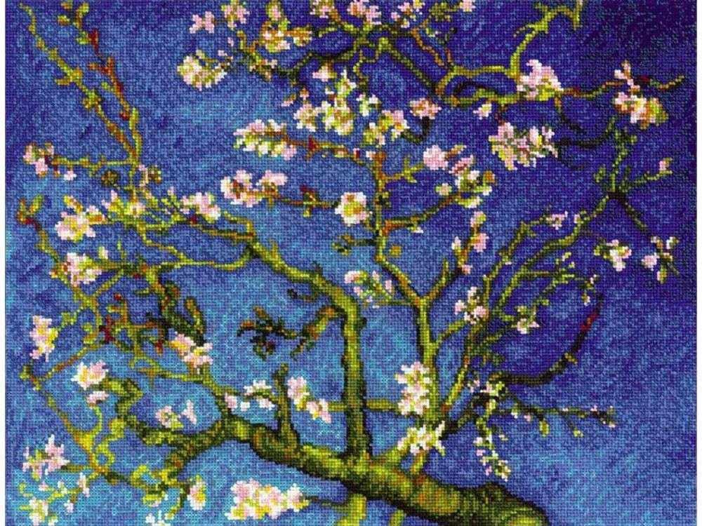 Набор для вышивания «Цветущий миндаль» по мотивам картины Ван ГогаВышивка крестом Риолис<br><br><br>Артикул: 1698<br>Основа: канва 14 Aida Zweigart<br>Размер: 40x30 см<br>Техника вышивки: счетный крест<br>Серия: Риолис (Сотвори Сама)<br>Тип схемы вышивки: Цветная схема<br>Цвет канвы: Белый<br>Количество цветов: 26<br>Художник, дизайнер: Анна Шевелева<br>Размер упаковки: 21x27x0,5 см<br>Заполнение: Полное<br>Рисунок на канве: не нанесён<br>Техника: Вышивка крестом