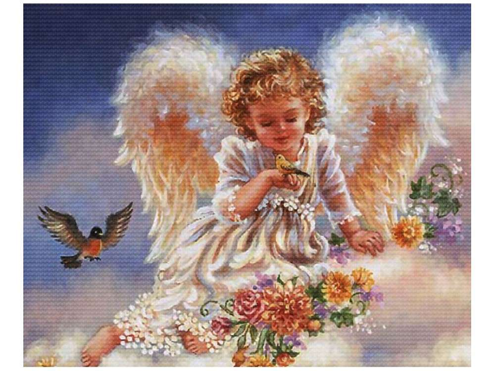 Набор для вышивания «Ангел с птичками»Белоснежка<br><br><br>Артикул: 3990-14<br>Основа: канва Aida 14<br>Размер: 44x37 см<br>Техника вышивки: счетный крест<br>Тип схемы вышивки: Цветная схема<br>Цвет канвы: Белый<br>Количество цветов: 40-50<br>Рисунок на канве: не нанесён<br>Техника: Вышивка крестом