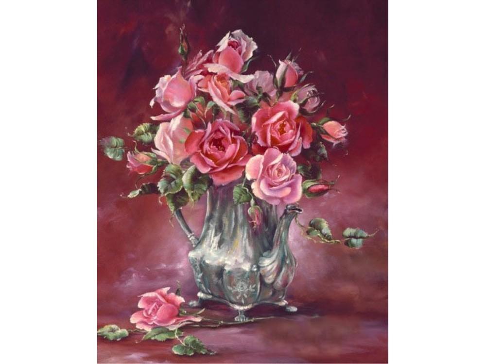 Набор вышивки бисером «Оригинальные розы»Color KIT<br><br><br>Артикул: 505<br>Основа: ткань<br>Сложность: легкие<br>Размер: 23x28 см<br>Техника вышивки: бисер<br>Тип схемы вышивки: Цветная схема<br>Количество цветов: 10-15<br>Заполнение: Частичное<br>Рисунок на канве: нанесён рисунок и схема<br>Техника: Вышивка бисером