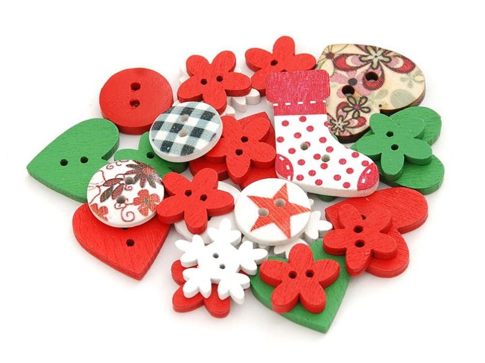 Пуговицы декоративные Ассорти №1Бумага и материалы для скрапбукинга<br>Набор декоративных пуговиц прекрасно подойдет для украшения детской одежды, одежды для кукол или же при создании композиций в стиле скрапбукинг или кардмейкинг. В наборы входят пуговицы различных цветов и размеров.<br><br>Артикул: 873-DB<br>Размер: 1,3-2,5 см<br>Количество: 40 шт.<br>Материал: Дерево