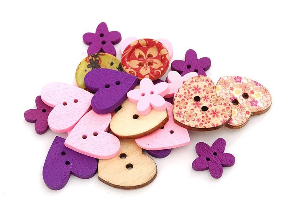 Пуговицы декоративные Ассорти №3Бумага и материалы для скрапбукинга<br>Набор декоративных пуговиц прекрасно подойдет для украшения детской одежды, одежды для кукол или же при создании композиций в стиле скрапбукинг или кардмейкинг. В наборы входят пуговицы различных цветов и размеров.<br><br>Артикул: 875-DB<br>Размер: 1,3-2,5 см<br>Количество: 40 шт.<br>Материал: Дерево