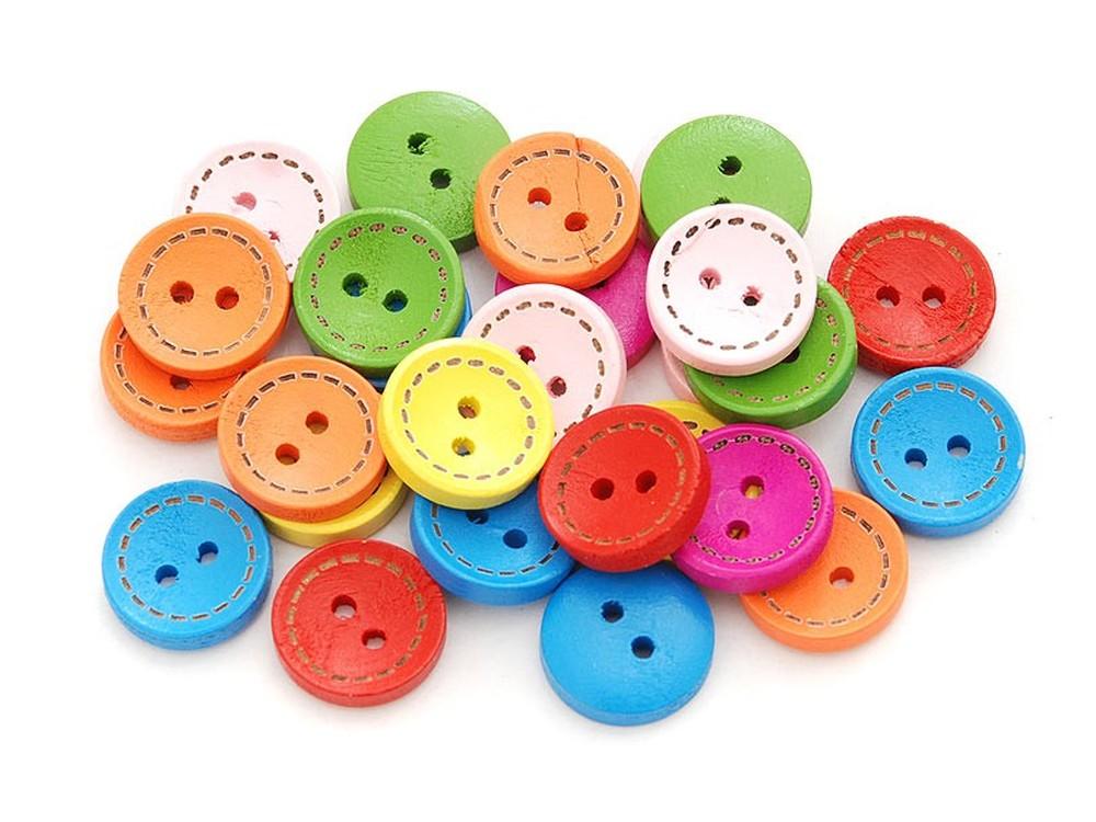 Пуговицы декоративные Круг №1Бумага и материалы для скрапбукинга<br>Набор декоративных пуговиц прекрасно подойдет для украшения детской одежды, одежды для кукол или же при создании композиций в стиле скрапбукинг или кардмейкинг. В наборы входят пуговицы различных цветов и размеров.<br><br>Артикул: 878-DB<br>Размер: 1,5 см<br>Количество: 50 шт.<br>Материал: Дерево