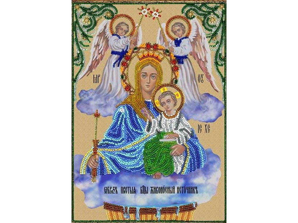 Набор вышивки бисером «Богородица Живописный источник»Вышивка бисером Вышиваем бисером<br>Чудотворная икона Божией Матери Живоносный Источник<br> Дни почитания - каждый год в пятницу Светлой седмицы (Пасхальной недели).<br>Молятся все, кто болен телесно, и по молитвам своим получают исцеления от самых тяжелых заболеваний. Молитвы перед этим образо...<br>