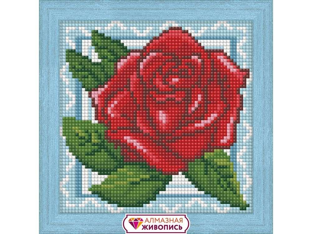 Купить Алмазная вышивка «Роза в кружевах», Алмазная Живопись