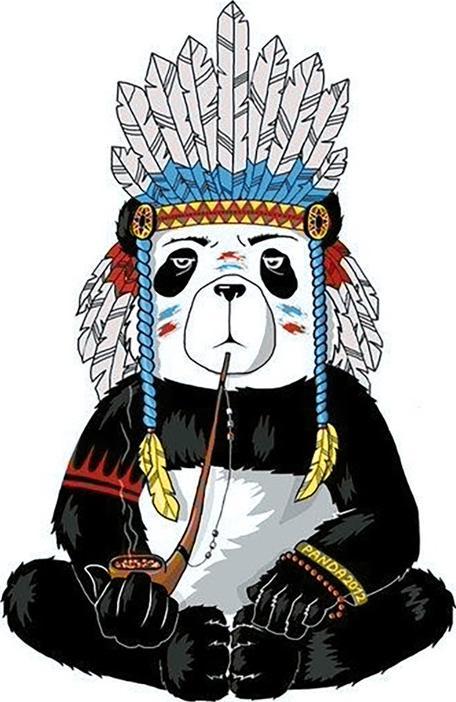 Алмазная вышивка «Хиппи панда»Алмазная вышивка Гранни<br><br><br>Артикул: Ag317<br>Основа: Холст без подрамника<br>Сложность: средние<br>Размер: 27x38 см<br>Выкладка: Полная<br>Количество цветов: 28<br>Тип страз: Квадратные