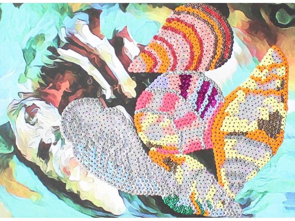 Мозаика из пайеток «Ракушки»Мозаика из пайеток<br><br><br>Артикул: CME011<br>Основа: Холст на подрамнике<br>Размер: 30x40 см<br>Количество цветов: 10<br>Возраст: от 8 лет