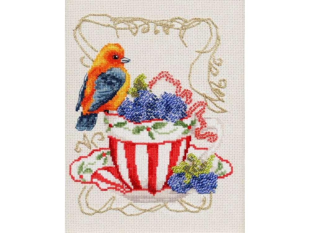 Набор для вышивания «Вкусняшки для пташки» по мотивам картины Елены ШумаковойВышивка смешанной техникой Золотое Руно<br><br><br>Артикул: СШ-014<br>Основа: канва Aida 16<br>Размер: 18x14,5 см<br>Техника вышивки: счетный крест+бисер<br>Тип схемы вышивки: Черно-белая схема<br>Цвет канвы: Кремовый<br>Количество цветов: мулине: 20, бисер: 6<br>Художник, дизайнер: Елена Крумина<br>Заполнение: Частичное<br>Рисунок на канве: не нанесён<br>Техника: Смешанная техника