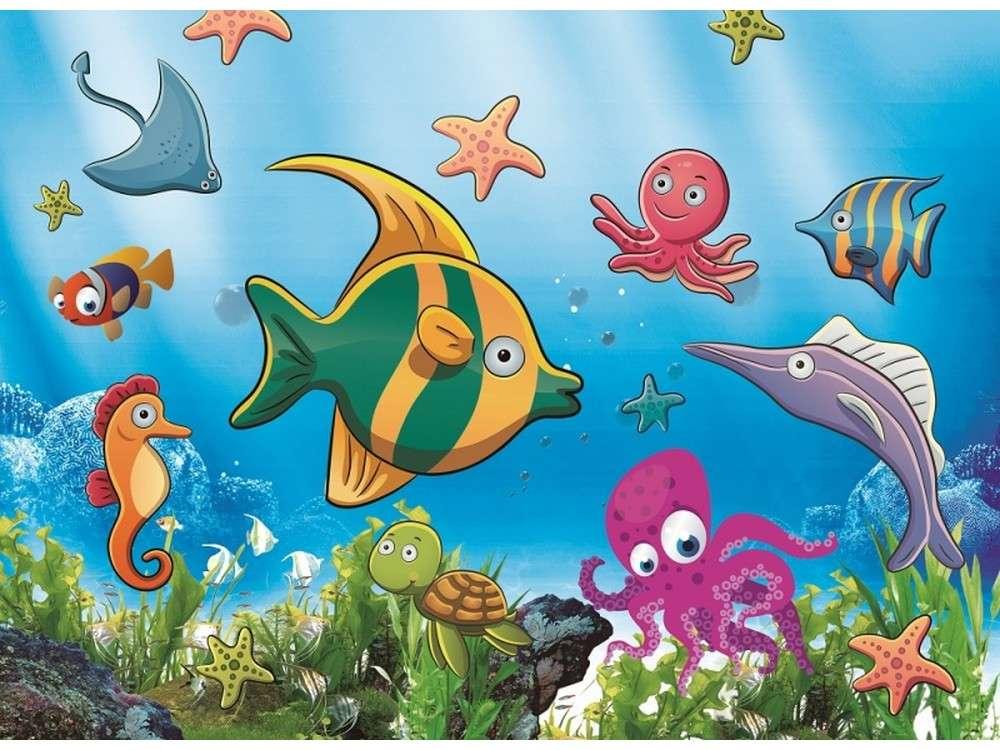 Мозаика из стикеров «Морские рыбки»