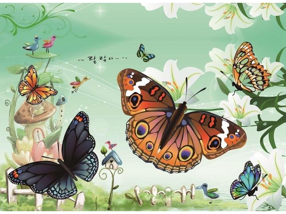 Мозаика из стикеров «Бабочки»