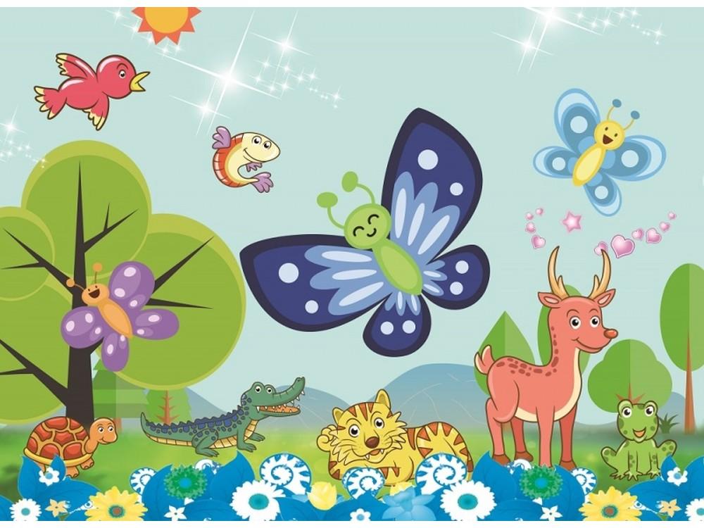 Мозаика из стикеров «Веселая бабочка»Мозаика из стикеров<br><br><br>Артикул: DF-A-6618<br>Основа: Картон<br>Размер: 21x10 см<br>Возраст: от 3 лет