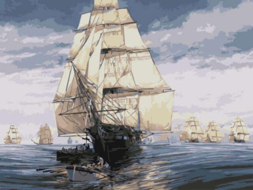 Картина по номерам «Флотилия»Раскраски по номерам<br><br>