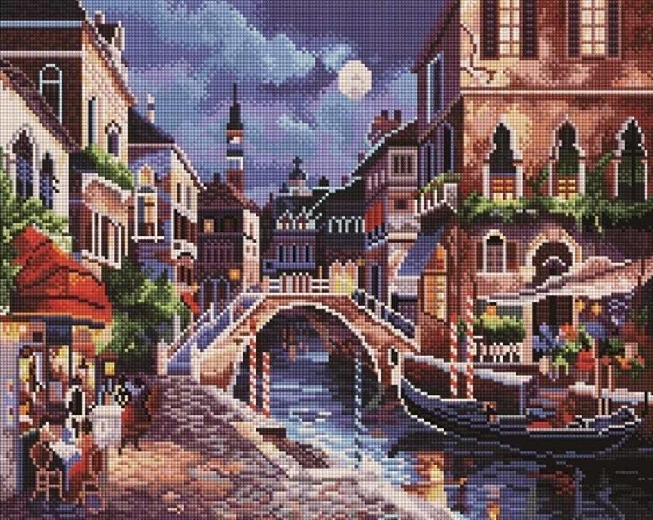 Алмазная вышивка «Ночная Венеция» Джеймса ЛиАлмазная вышивка Painting Diamond<br><br>