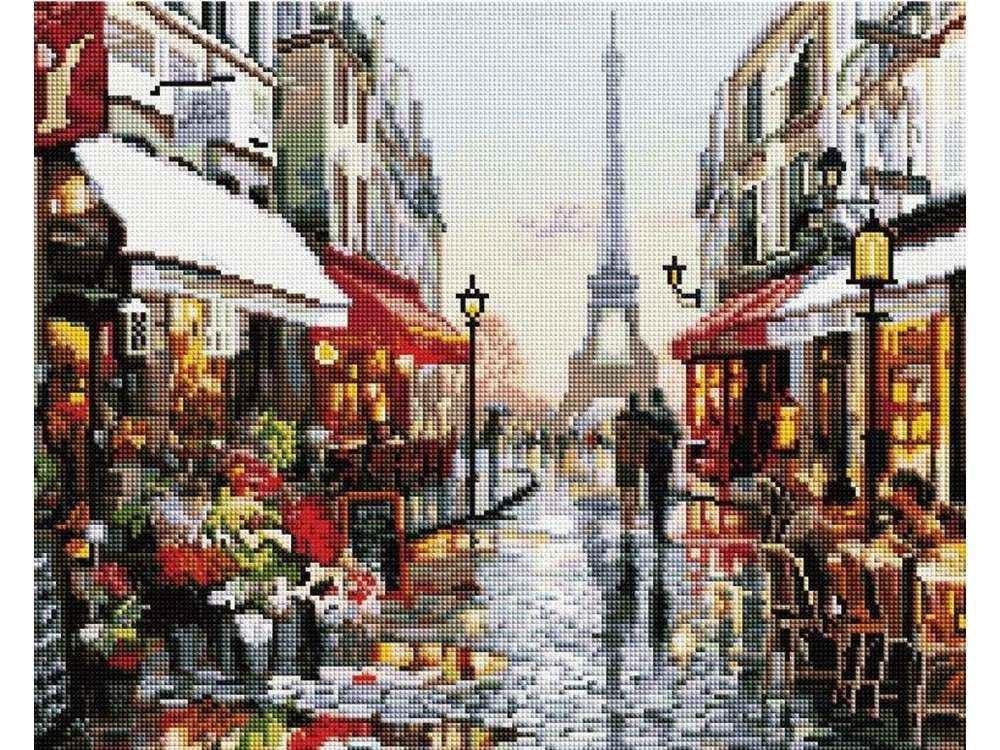 Алмазная вышивка «Париж» Ричарда МакнейлаАлмазная вышивка Painting Diamond<br><br><br>Артикул: GF1198<br>Основа: Холст на подрамнике<br>Сложность: очень сложные<br>Размер: 40x50 см<br>Выкладка: Полная<br>Количество цветов: 37