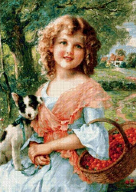 Алмазная вышивка «Очаровательная девочка»Алмазная вышивка<br><br>