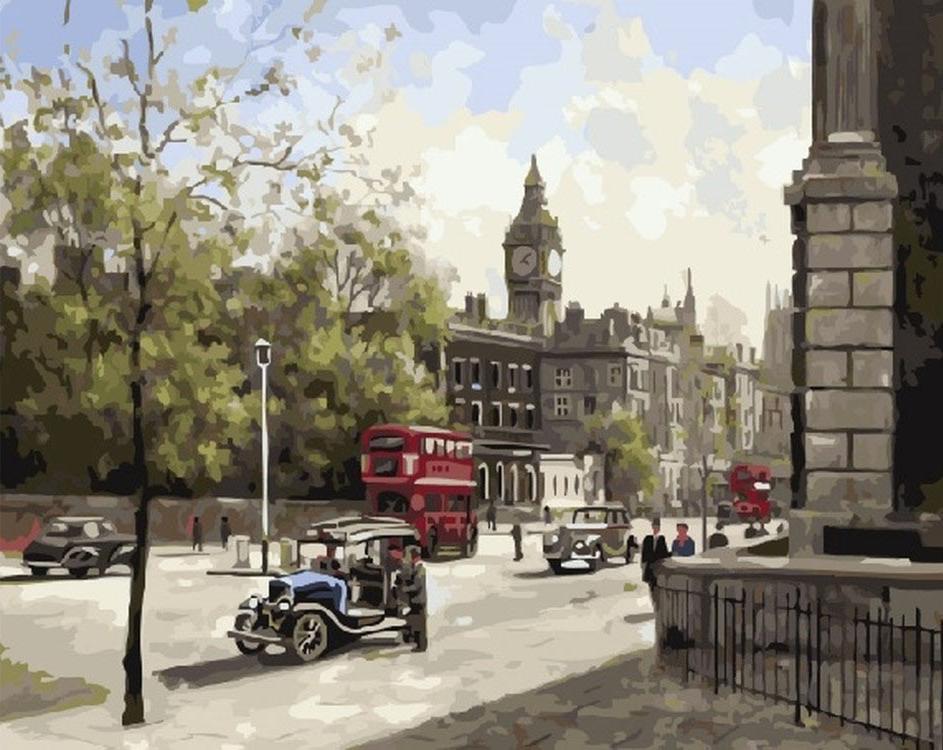 Картина по номерам «Лондонский полдень» Джона ЧапменаPaintboy (Premium)<br><br><br>Артикул: GX21172<br>Основа: Холст<br>Сложность: сложные<br>Размер: 40x50 см<br>Количество цветов: 30<br>Техника рисования: Без смешивания красок