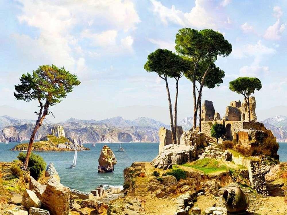 Картина по номерам «Древняя Греция»Paintboy (Premium)<br><br><br>Артикул: GX21460<br>Основа: Холст<br>Сложность: средние<br>Размер: 40x50 см<br>Количество цветов: 27<br>Техника рисования: Без смешивания красок