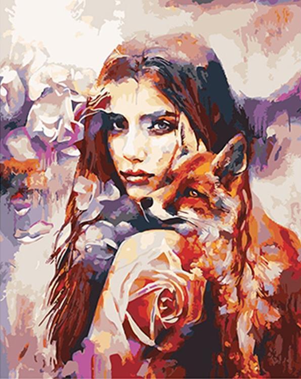 Картина по номерам «Лисички» Димитры МиланPaintboy (Premium)<br><br><br>Артикул: GX4976<br>Основа: Холст<br>Сложность: средние<br>Размер: 40x50 см<br>Количество цветов: 25<br>Техника рисования: Без смешивания красок