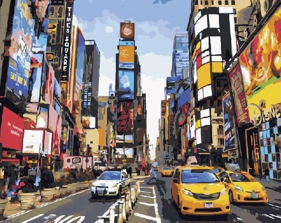 Картина по номерам «Шум большого города»Paintboy (Premium)<br><br><br>Артикул: GX5377<br>Основа: Холст<br>Сложность: средние<br>Размер: 40x50 см<br>Количество цветов: 26<br>Техника рисования: Без смешивания красок